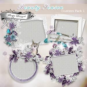 Beauty Season [ Clusters Pack 1 PU ] by Florju Designs