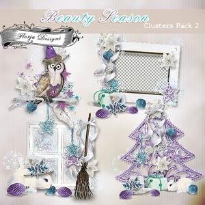 Beauty Season [ Clusters Pack 2 PU ] by Florju Designs