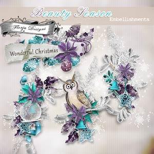 Beauty Season [ Embellishments PU ] by Florju Designs