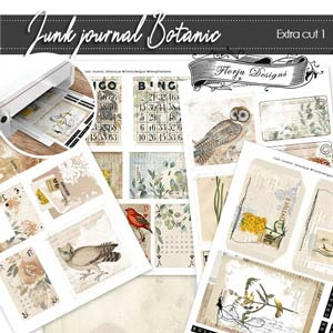 Junk Journal Botanic Extra cut 1 PU by Florju Designs