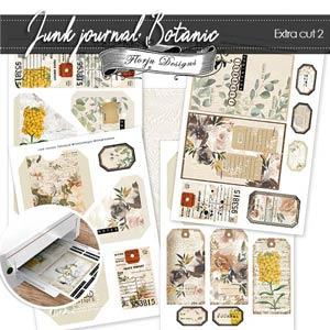 Junk Journal Botanic Extra cut 2 PU by Florju Designs