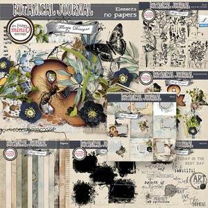 Botanical Journal [Bundle PU ] by Florju Designs