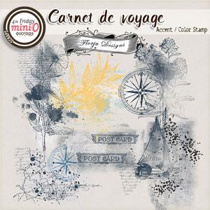 Carnet de Voyage { Accent / Color Stamp PU } by Florju designs