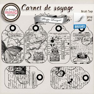 Carnet de Voyage { Brush Tag PU } by Florju designs