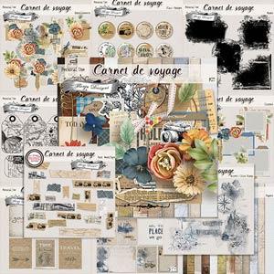 Carnet de Voyage { Bundle PU} by Florju designs