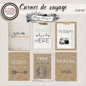 Carnet de Voyage { Cards PU Pack 1 } by Florju designs