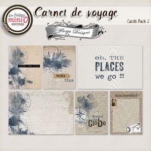 Carnet de Voyage { Cards PU Pack 2 } by Florju designs