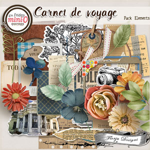 Carnet de Voyage { Elements PU } by Florju designs