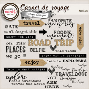 Carnet de Voyage { Word Art PU} by Florju designs