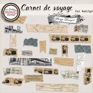 Carnet de Voyage { Washi Tape PU } by Florju designs