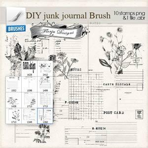 DIY Junk Journal [ Brush PU } by Florju Designs