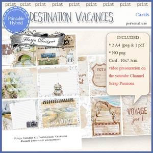 Destination Vacances Cards PU by Florju Designs