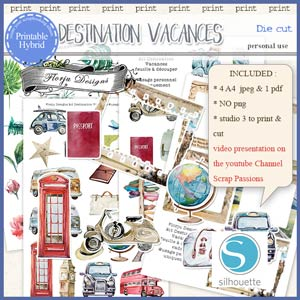 Destination Vacances Die cut PU by Florju Designs