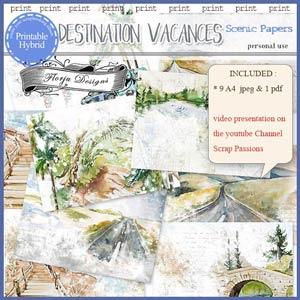 Destination Vacances Scenic Paper PU by Florju Designs
