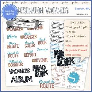 Destination Vacances Word Art PU by Florju Designs