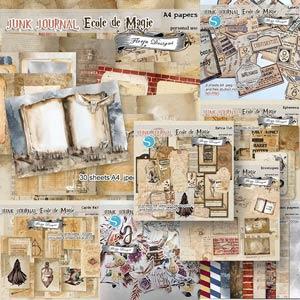 Junk Journal Ecole De Magie Bundle PU by Florju Designs
