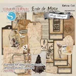 Junk Journal Ecole De Magie Extra cut PU by Florju Designs