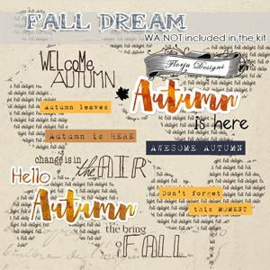 Fall Dream Word Art PU by Florju Designs
