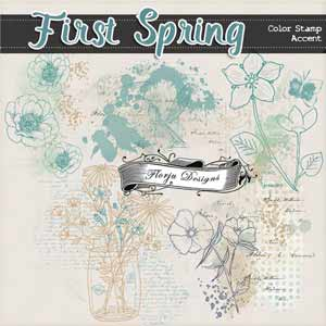 First Spring {  Accent/Color Stamp PU } by Florju Designs