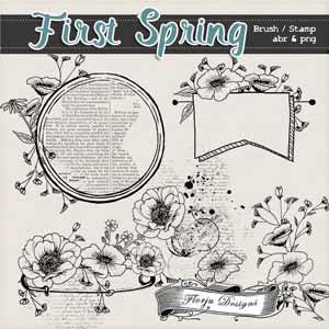 First Spring { Brush / Stamp PU } by Florju Designs