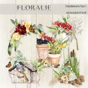 Floralie Embellishments pack 1 by Florju Designs PU