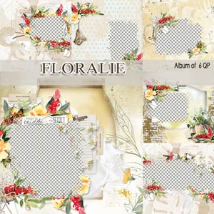 Floralie Album of 6 QP by Florju Designs PU