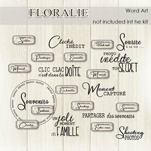 Floralie French Word art by Florju Designs PU