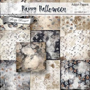 Happy Halloween Addon Papers PU by Florju Designs