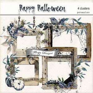 Happy Halloween Clusters PU by Florju Designs