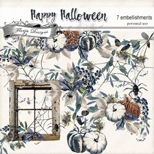 Happy Halloween Embellishments pack 1 PU by Florju Designs