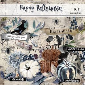 Happy Halloween Kit PU by Florju Designs