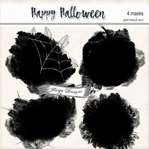 Happy Halloween Masks PU by Florju Designs