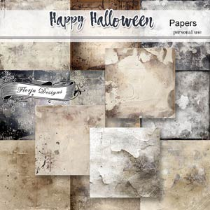 Happy Halloween Papers PU by Florju Designs