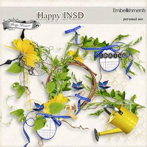 Happy INSD Embellishments PU  by Florju Designs