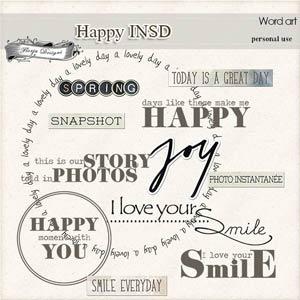 Happy INSD Word art PU  by Florju Designs