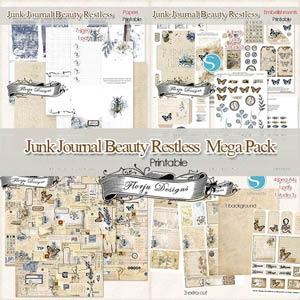 Junk Journal Beauty Restless [Mega pack PU ] by Florju Designs