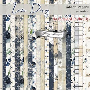 Love Day Addon Papers PU by Florju designs