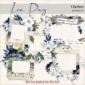 Love Day Clusters PU by Florju designs