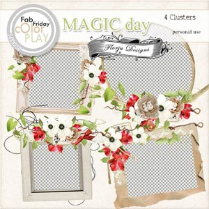 Magic Day Clusters PU  by Florju Designs