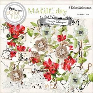 Magic Day Embellishments PU  by Florju Designs
