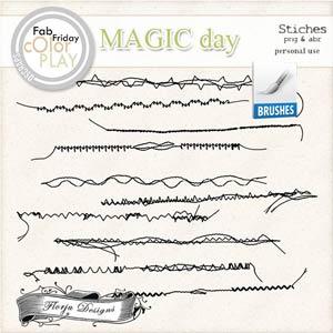 Magic Day Brush Stitches PU  by Florju Designs