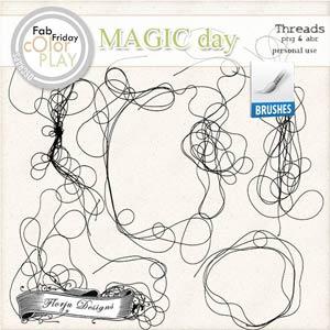 Magic Day Brush Threads PU  by Florju Designs