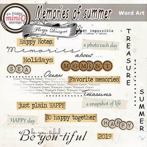 Memories Of Summer [Word Art PU ] by Florju Designs