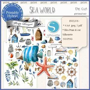 Sea World Die Cut by Florju Designs PU