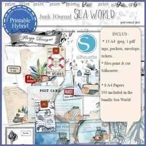 Sea World Junk Journal by Florju Designs PU