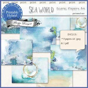 Sea World A4 Scenic paperby Florju Designs PU
