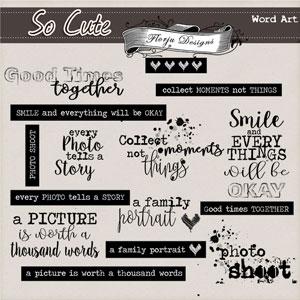 So cute { Word Art PU } by Florju Designs