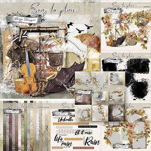 Sous La Pluie [ Bundle PU ] by Florju Designs
