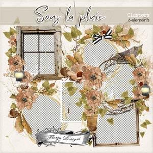 Sous La Pluie [ Clusters PU ] by Florju Designs