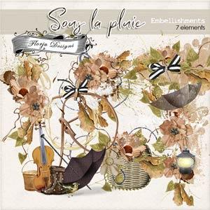 Sous La Pluie [ Embellishments PU ] by Florju Designs